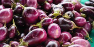 Purple vegetables and purple fruits